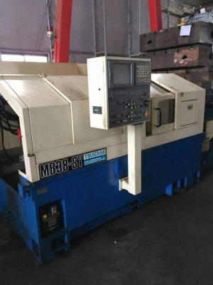 "????????รูผ่าน 38 mm. Bar feeder Auto???????? ""Tsugami ""Swiss Type Lathe MB38-SY Year 2004 Control  Fanuc LH1 (18iTA) 2 Spindle 2 Turret and..."