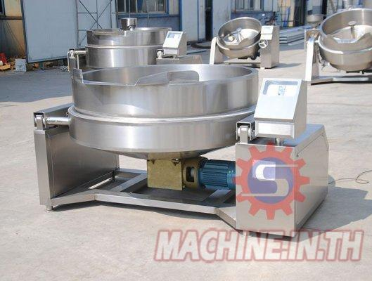 Gas jacketed kettle?with mixer ?jacketed boiling pot ??Gas vacuum jacketed kettle supplier
