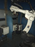 ขาย หุ่นยนต์เชื่อม co2 Robot welding Panasonic (used) Model TA1600,1400 G2/ controller G2 (Y2010)
